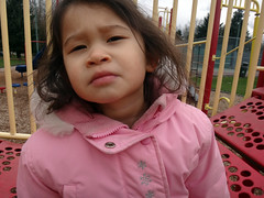 """You Talkin To Me?"" (Geoffery Kehrig) Tags: playing playground britishcolumbia portcoquitlam pretend robertdeniro youtalkintome deniroimpression vancouverlowermainland pretendmadface mydaughter"