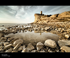 The Tower (J. Tiogran) Tags: sea sky tower beach clouds mar nikon torre stones playa tokina cielo nubes julin piedras solana serrano d5000 1116mm elxarco