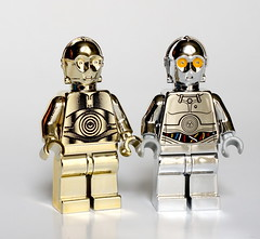 Chomic twins (Vanjey_Lego) Tags: gold starwars lego chrome c3p0 minifig tc14