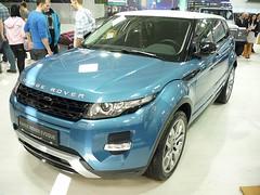 Range Rover Evoque (Miki216) Tags: uk blue car design power wheels style autoshow headlights exhibition bumper rangerover bratislava tyres 2012 elegance evoque worldcars