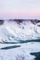 Worth the cold. (ndutzie) Tags: ontario canada frozen fuji niagara falls xe1