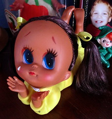 Hope (Brentments) Tags: cute love girl vintage hope mod 60s doll fierce 5 vinyl may kitsch rubber plastic indoors precious 70s 1960s kitschy pigtails fabulous 5th ponytails 1960 2014