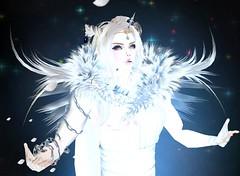 (Light_Aoshimori) Tags: white night fur photography chains power magic sparkle virtual mysterious demon horn fangs magical powerful bandage angst whimsical stole summon imvu whitedemon unicornhorn