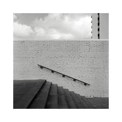 reflections (ha*voc) Tags: urban bw 120 6x6 film monochrome mediumformat square abstraction zandvoort yashicamat124g urbanfragments urbanabstraction 80mmf35