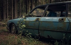 together forever (Nils Grudzielski) Tags: auto wood old urban abandoned car trash lost forrest alt decay leer citron urbanexploration wald mll verlassen urbex wagen abandonedplaces marode verfallen lostplaces
