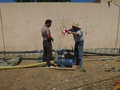 Water pump (Jiyan Foundation) Tags: water construction gardening foundation clay therapy humanrights kurdistan stables healinggarden jiyan chamchamal