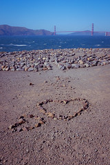 Lands End Labyrinth (seekjim20) Tags: sanfrancisco california sea us unitedstates heart stones goldengatebridge landsend labyrinth