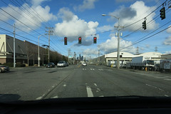 Cloud Field Behind a Front (Blinking Charlie) Tags: seattle usa intersection washingtonstate redlight 2016 duwamishindustrialarea canonpowershots110 cumulusclouds 4thavenues cloudfield blinkingcharlie