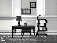 [ht:home] neo-baroque decoration PACK black (Corvus Szpiegel) Tags: life lighting original light white black home lamp modern silver table this book photo mesh furniture contemporary side decoration picture ivory bookshelf line sl secondlife frame hate end second neo ht baroque decor deco console minimalist ebony neobaroque hatethis bookframe hthome