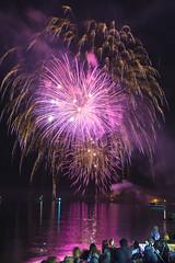 Fireworks over Ashbridges Bay (suesthegrl) Tags: lake toronto ontario fireworks lakeontario thebeach ashbridgesbay torontoharbour thebeaches victoriaday woodbinebeach