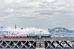2016-2887_DxO (Tom Hibberd Photography) Tags: bridge sky architecture train canon river newcastle cityscapes steam gateshead dxo newcastleupontyne flyingscotsman rivertyne northeastengland ef70200mmf4lisusm newcastlebridges canoneos6d