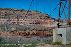 Remains of the Dewey Bridge (RichHaig) Tags: utah coloradoriver route128 nationalregisterofhistoricplaces deweybridge nikond800 uppercoloradoriverscenicbyway richhaig nikonafsnikkor2412014ged longestwoodensuspensionbridgeinutah