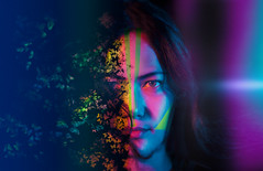 Emotion #31 (rhendi.rukmana) Tags: portrait art portraits canon photography manipulation soul gloom colourful artphotography