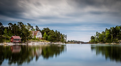 Abandoned house in beautiful place (Mika Laitinen) Tags: ocean longexposure sea sky cloud seascape nature water rock suomi finland landscape europe outdoor wideangle calm shore serene fi helsingfors scandinavia vuosaari uusimaa uutela leefilters leebigstopper canon7dmarkii