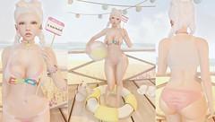 I'm just a summer kinda girl (Bishybaby) Tags: summer foxy vinyl bikini kirin uber whimsical sallie monkeygirl gacha treschic mishmish maitreya vco slink beusy