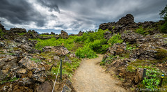 Dimmuborgir is Creepy (Jonny Fay) Tags: road cliff mountain mountains ice nature june rock landscape lava iceland nikon rocks mood moody view natural hill scenic dramatic ring solstice edge vista fjord hillside drama volcanic formations d800 2014 dimmu borgir cliffside dimmuborgir