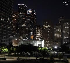 Downtown @ Night (zeesstof) Tags: city architecture buildings downtown texas skyscrapers nightshot houston citylights afterdark tallbuildings downtownhouston concreteandglass insidetheloop zeesstof