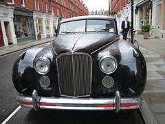 Wonderful old Jag in Chiltern St, Marylebone. (Rain Rabbit) Tags: car vintage jag jaguar