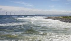 Wind (Preston Ashton) Tags: ocean blue sea sky beach water sunshine sand surf waves wind farm sunny shore windfarm prestonashton
