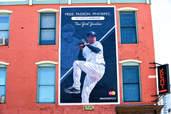 Yankees (Always Hand Paint) Tags: blue sports advertising mural colorful outdoor pop ooh handpaint yankees colossal wallscape colossalmedia b174 muraladvertising skyhighmurals alwayshandpaint kristalindahl yankeescomplete