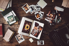 journaling (the girl who made it on her own) Tags: home typewriter polaroid diary journal photographs journals notebooks instax journaling onmydesk mercedestypewriter paperblanks photographicmemories leuchtturm1917 ronakeller deskfromabove theartofkeepingajournal