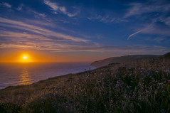 Point Reyes Trail (Juan Pablo J.) Tags: ocean california sunset sky sun seascape color nature clouds outdoors coast sundown ocaso oceano naturephotography sonya580