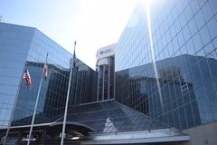 Mirror Baltimore (Sam DeGenova) Tags: baltimore buildings city cars sun shine reflections people street america