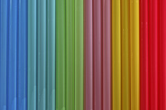 Lines (Pentax_Phil) Tags: lines rainbow pattern colours straws lightbox 52project2016