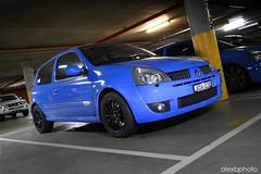 IMG_4982 copy (www.autofocus.net.au) Tags: blue light lightpainting car canon painting french photoshoot clio renault 200 7d carpark 1022mm 172 lense bluecar 182 197 renaultsport r27 teamdynamics frenchracingblue