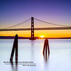 Bay Bridge San Francisco Sunrise Colors (davidyuweb) Tags: sanfrancisco california bridge usa building colors ferry sunrise 1 bay pier san francisco long exposure 10 stop filter nd