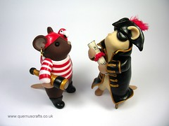 Pirate Mice (QuernusCrafts) Tags: cute mouse pirates mice polymerclay quernuscrafts