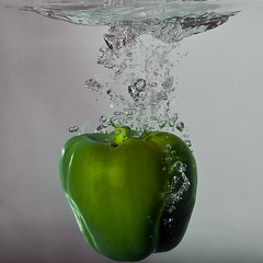 Experiments with water II (nArt_concept2011) Tags: water vegetables cucumber splashingwater bubblesofwater