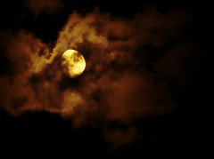 Moon & Clouds (Gary.Lamprecht) Tags: moon night clouds canon evening lunar topaz t1i