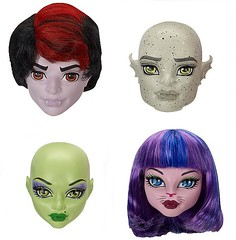 Create-a-Monster Heads : Vampire, Gargoyle, Witch & Cat-Girl (Renka 1/2) Tags: toys jouets monsterhigh