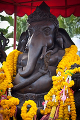 (seua_yai) Tags: thailand ganesha shrine asia southeastasia buddhist buddhism thai ganesh offering pattaya spirithouse soibuakhao