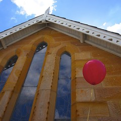 Fun Day (Flowers71) Tags: red people church christ religion balloon fair christian local stmarks huntershill stainedglasswindows familyfunday truelovestudios tesspeni