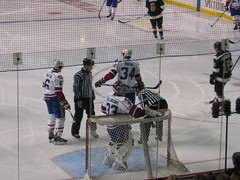 Hamilton Bulldogs (Ramrod33) Tags: ontario ice sports hockey goalie referee hamilton arena ahl players bulldogs copps