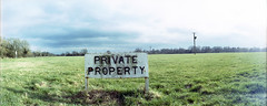 PRIVATE PROPERTY (pho-Tony) Tags: mill film st 35mm lens lomo lomography horizon 28mm panoramic ishootfilm swing east swinglens analogue 135 russian houghton perfekt horizon202 cambridgeshire 202 ives anglia industar huntingdon russiancameras kompakt filmisnotdead  horizon perfeckt  202
