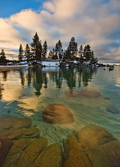 Emerald Cove (Jeffrey Sullivan) Tags: morning travel light copyright usa moon lake jeff nature set clouds sunrise canon landscape outdoors photography photo rocks photographer tahoe lifestyle laketahoe roadtrip vis