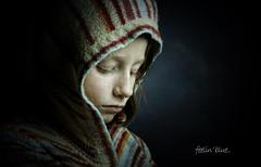feelin' blue.. (jetbluestone) Tags: blue portrait girl child sad chloe hood