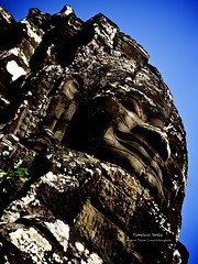 Timeless Smile (realvision) Tags: smile stone cambodia thom angkor guardian nex