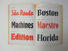 Page from a Berthold Type Foundry catalog (Herb Lubalin Study Center) Tags: berthold hauptprobe