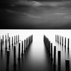 To infinite. (Massimo Margagnoni) Tags: world trip trees sunset sea blackandwhite bw italy white black art 6x6 nature digital canon landscape exposure poetry solitude tramonto mare alone photographer digitale natura hasselblad dreams 5d poesia minimalism minimalismo viaggi nero paesaggio biancoenero massimo 2012 mkii mondo naturepoetry absoluteblackandwhite bestcapturesaoi margagnoni