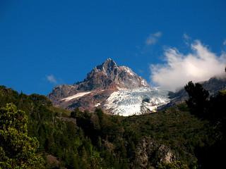 Glacial en la punta del Cerro