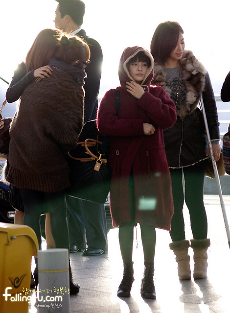 Incheon International Airport (T-ara go to Paris) 07.02.2012
