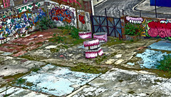 White Post Lane ([Duncan]) Tags: urban london graffiti teeth hackney olympics olympicpark e9 eastlondon hackneywick whitepostlane