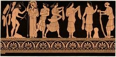 Ulysse, Athéna et Nausicaa et ses servantes (athenaceramique) Tags: lance nausicaa arbre rocher ulysse casque chiton feuillage linges ornements odyssée égide athéna servantes himation palmettes