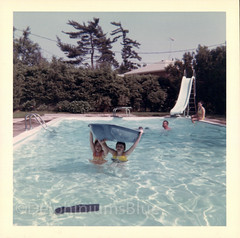 Girls In The Pool (mizaliza) Tags: summer water pool swimmingpool nostalgia etsy float bathingsuit bathers photovintage photoantique etsydelphiniumsbluedelphiniumsbluefound