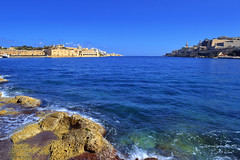 Harbour (albireo2006) Tags: blue sea wallpaper sky water mediterranean background malta valletta lazaretto grandharbour lazzaretto manoelisland v18 gettyimagesmalta1 gimaltafeb12 valletta2018