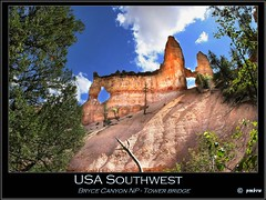 USA Southwest (pharoahsax) Tags: world bridge usa get southwest tower colors rock canon rocks canyon bryce felsen 40d sdwesten canon40d pmbvw worldgetcolors
